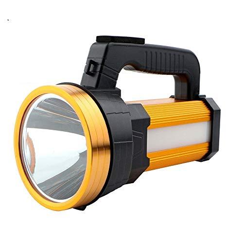 JJSCCMDZ Luz de Camping 20W Super Brillante Searchlight portátil de Mano USB Recargable Linterna antorcha lámpara de Larga Disparos