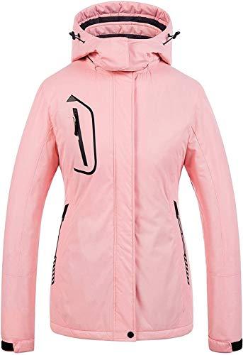 LSZ Montagne Veste de Ski imperméable for Femmes Coupe-Vent Snowboard Veste Manteau Chaud d'hiver Raincoat (Couleur : D, Taille : X-Large)