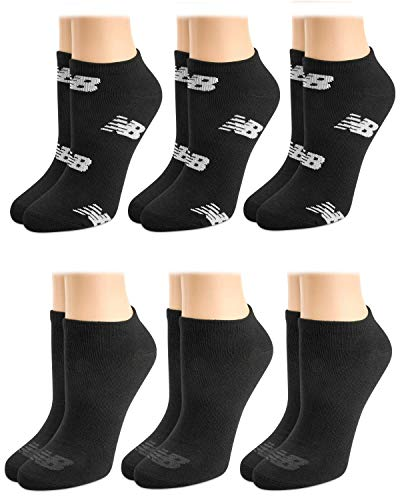 New Balance Women's Athletic Arch Compression Cushioned Low Cut Socks (6 Pack)