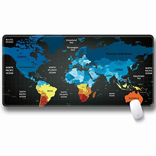 Extra Large World Map Gaming Mouse Pad Gamer Keyboard Waterproof Desk Mat Notebook Laptop Gamer Computer Non-Slip Office Mousepad Accessorie