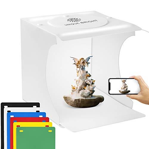 Scatola luminosa per foto 20 cm con luci LED per riprese con 6 colori di fondale Scatola luminosa per foto da studio fotografico