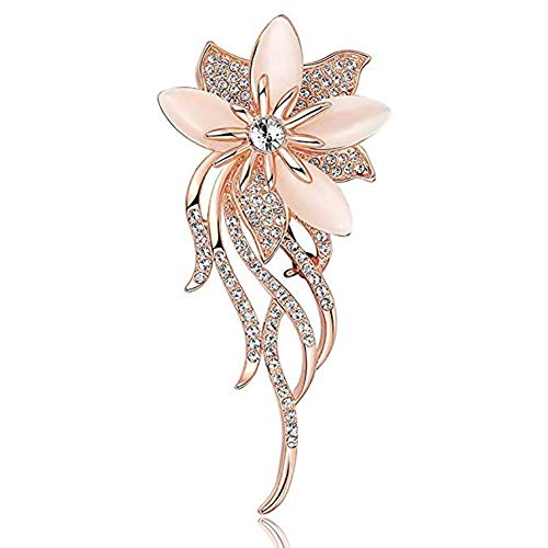 Alivier Brooch Pin Flower Bee Dragonfly Feather Pineapple Animal Brooches Pins Pink Silver Gold for Womens Shell White Pearl Elegant Beautiful Brooch