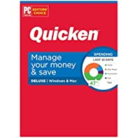 Quicken Deluxe Personal Finance Manage Your Money and Save, 1 Year Subscription (Windows/Mac)