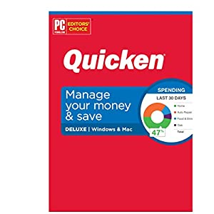 Quicken Deluxe Personal Finance – Manage your money and save – 1-Year Subscription (Windows/Mac)