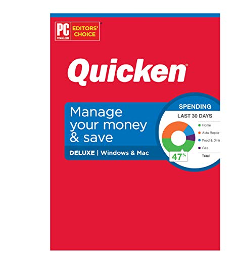 Quicken Deluxe Personal Finance – Manage your money and save – 1-Year Subscription (Windows/Mac) -Save 10% Off at checkout when purchased from Quicken Inc, no code needed!