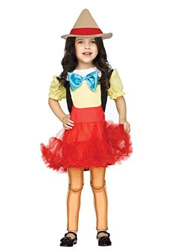 Fun World Toddler Wooden Girl Costume, Multi, Large
