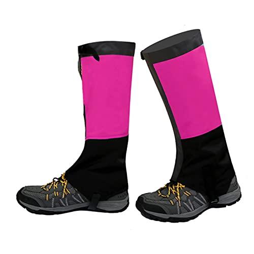 Yingbao Botas De Nieve Delgadas Una Sola Capa Al Aire Libre a Prueba De Agua Leggings Ajustables Esquí Desert Jungle Senderismo Zapatos De Nieve Montañismo (Color : Rose Red, Size : M)