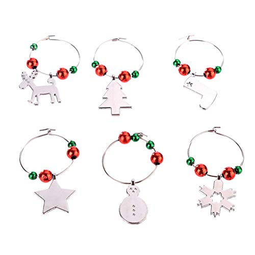 Candy Bags Christmas Wine Glass Decoration Charms Party New Year Cup Ring Table Decor Home & Garden Tools & Home Improvement Christmas for Faclot