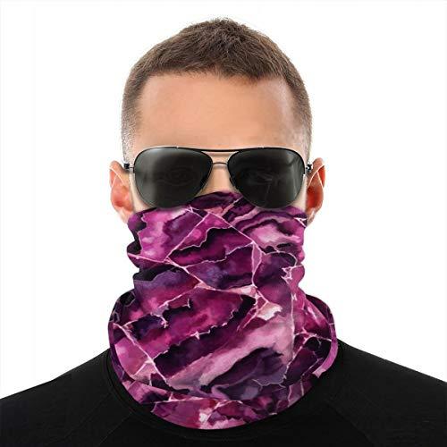 90ioup Echarpe de Tete de variEtE de Motif de Granit Rose Bandanas Neck Wrap Head Warmer