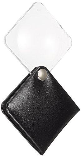 Eschenbach Optik Lupe Einschlaglupe classic, Vergrößerung 3,5 x, Durchmesser 50 mm, eckig, royalschwarz