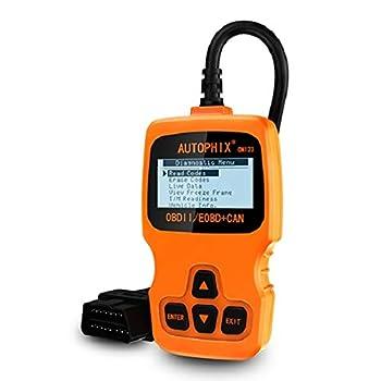 AUTOPHIX OM123 Enhanced OBD2 Scanner Universal Automotive Car Engine Fault Code Reader CAN Diagnostic Scan Tool - Orange