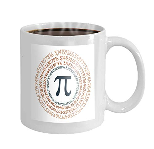 Racoste Eletina 11oz Coffee Mug pi Symbol Mathematical Constant Irrational Number Circle Greek Letter pi Symbol Mathematical Constant Irrational Number Novelty Ceramic Gifts