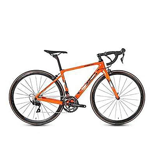 WXXMZY Bici Da Strada In Fibra Di Carbonio, Bici Da Strada In Fibra Di Carbonio 700C, Dotata Di Sistema Di Trasmissione A 22 Velocità E Freni A Disco (Color : F, Size : 540mm)