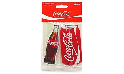 Deodoranti per auto a forma di bottiglia e lattina di Coca Cola da Air Pure