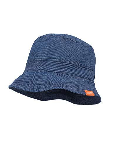 maximo Jungen Hut Mütze, Blau (Denim-Weiß-Streifen 56), (Herstellergröße: 53)