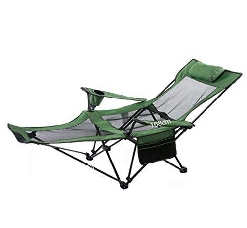 MissLi Sillas Plegables Portátiles Plegables Al Aire Libre Silla De Camping para Pesca Asiento De Tela Oxford Asiento Ligero para Acero Inoxidable (Color : Green)