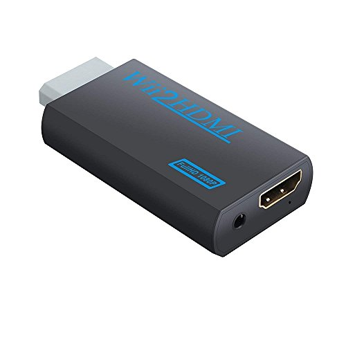 Wii to HDMI Converter Adapter, Sartyee Wii to HDMI 1080P Or 720P Output Video Converter & 3.5mm Jack Audio Output Wii HDMI Converter Supports All Wii Display Modes