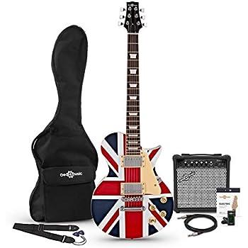 Set de Guitarra Electrica New Jersey + Amplificador de 15 W Union Jack: Amazon.es: Instrumentos musicales