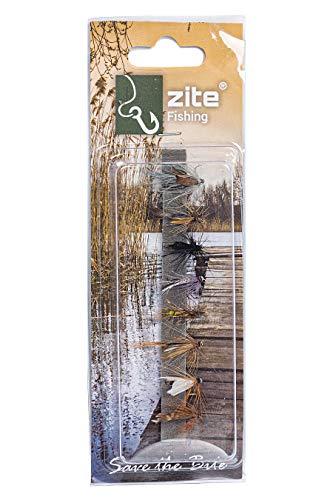 Zite Fishing Trocken-Fliegen Sortiment - 8 Kunst-Köder zum Fliegen-Fischen - Fertig am Fliegen-Haken Gebunden