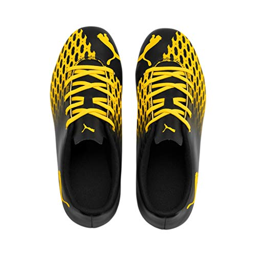 Puma Spirit III MG Jr, Botas de fútbol, Black-Ultra Yellow, 31 EU
