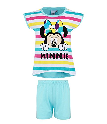 Disney Minnie Mädchen Shorty-Pyjama - türkis - 116