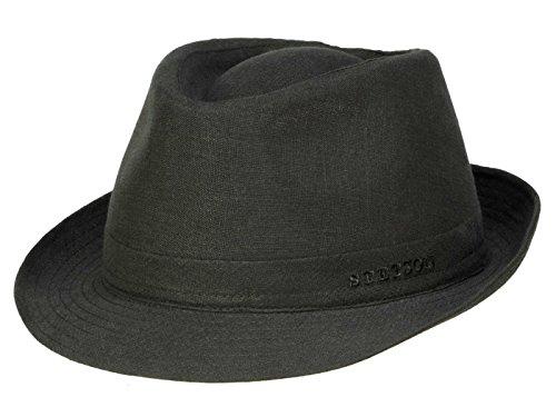 Stetson Geneva Trilby Hut mit UV-Schutz aus Leinen - Schwarz (1) - 55 cm