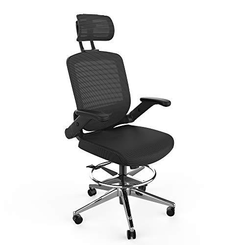 SNOVIAY Ergonomic Drafting Chair, Executive Task Mesh Chair High Back Desk...