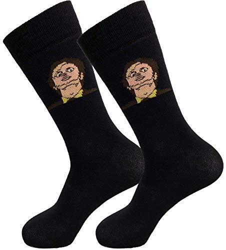 Balanced Co. Dwight Schrute Mask Dress Socks Rainn Wilson Funny Socks Crazy Socks Casual Cotton Crew Socks (Black)
