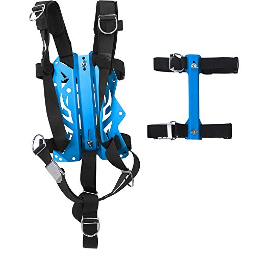 Vbest life Diving Back Plate, Aviation Aluminium onderwaterkabelboom bakplaat metaal Diving Back Plate apparatuur