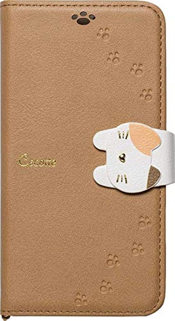 スタンド定規階層iPhoneXS/X専用手帳型ケース Cocotte Beige iP18_58-COT05