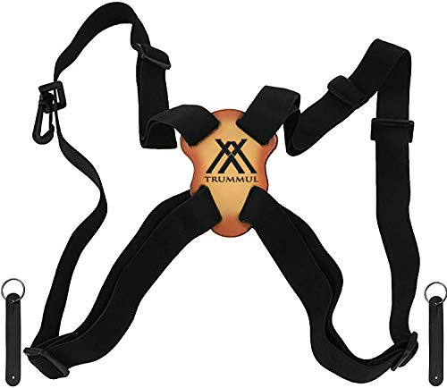 Trummul Binocular Harness Strap Best Chest Harness Strap for Hunters Photographers and Golfers Upgraded Version(Black)