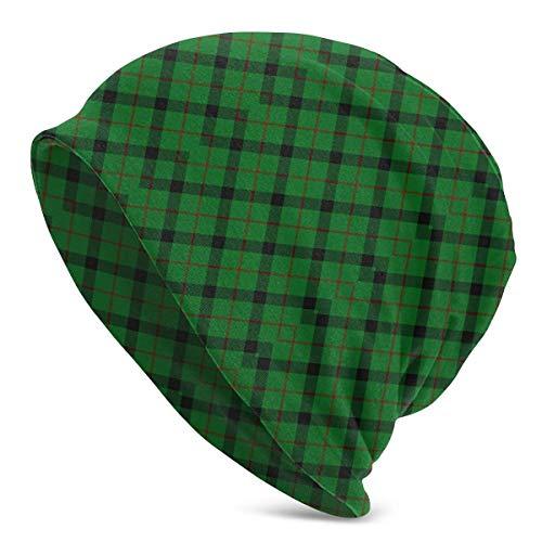 XCNGG Scots Style Clan Kincaid Tartan Plaid Winter Ski Warm Beanie Gorro de Punto Gorro de Punto para jvenes Hombres Mujeres Adultos Primavera Otoo Invierno Disfraz Negro