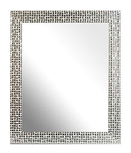 Inov8 Framing British Made Mirror Frame Mosaic Silver 10'x8' (25.4cm x 20.32cm)