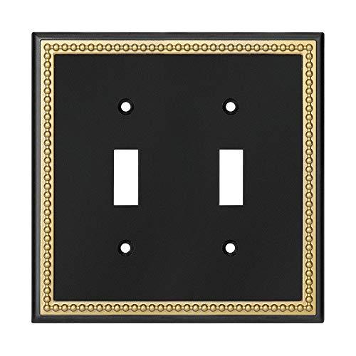 Harmon Designs - Placa de interruptor de pared con marco perlado