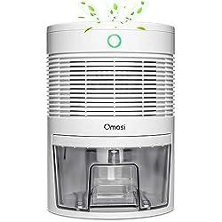 Dehumidifier, Omasi 800ml mini electric dehumidifier automatic dehumidifier silent Dehumidifier for dirt and mold at home, bedroom, basement rooms, closet, caravan, office