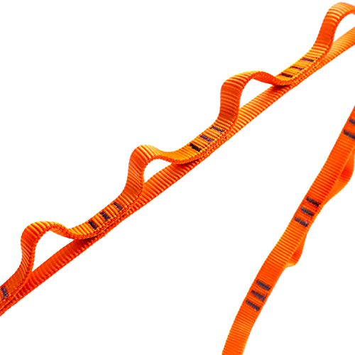 GM CLIMBING 16mm Nylon Daisy Chain 22kN 120cm / 48in CE UIAA Certified for Leading Aid Climb Ascender Rigging Hammock Suspension One Unit