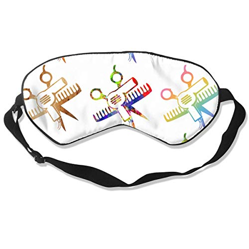 Premium Super Zacht Ademend Oogmasker met Verstelbare Band - LGBT Pride Regenboog Vlag - Licht Blokkerende Slaap Masker voor Reizen, Nap, Yoga, Meditatie Eén maat Schaar en kam haarstylist Salon