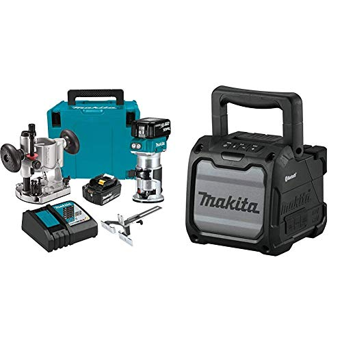 Lowest Prices! Makita XTR01T7 18-Volt LXT Lithium-Ion Brushless Cordless Compact Router Kit (5.0Ah) ...
