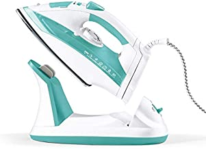 Geepas Corded & Cordless Steam Iron 2400W - Non-Stick Ceramic Soleplate, Steam Boost, Anti Drip & Self Cleaning Functions ...
