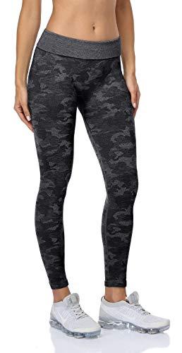 Anwell Seamless Winter Leggings Damen Gestrickte Pants Thrmoleggings Schwarz XL