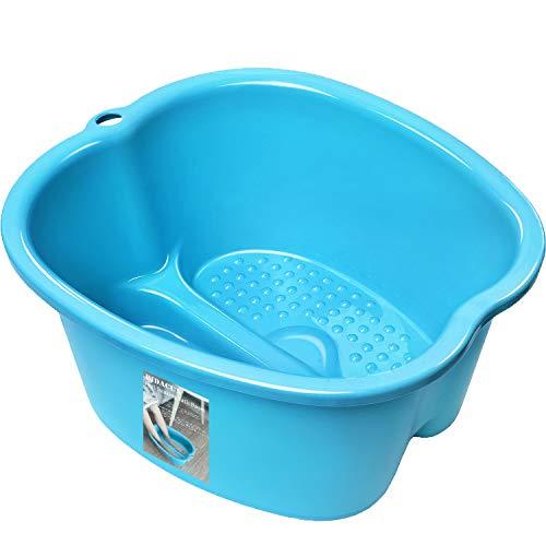 Foot Soaking Bath Basin - Large Foot Soaking Tub Foot Bath Spa Wash Basin Foot Bucket Foot Soaking Tub Feet at Home (Blue)