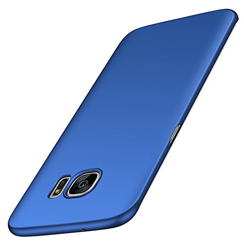 Anccer Coque Samsung Galaxy S7 Edge [Serie Mat] Resilient Conception Ultra Mince et Absorption des Chocs Coque pour Samsung Galaxy S7 Edge(Bleu Lisse)