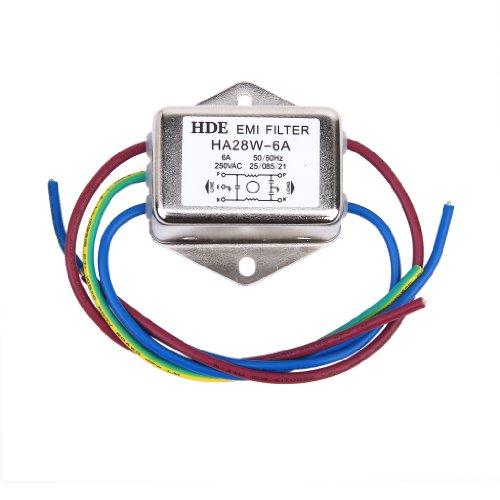 Netzfilter Power EMI Filter HA28W-6A 50/60Hz 250V AC