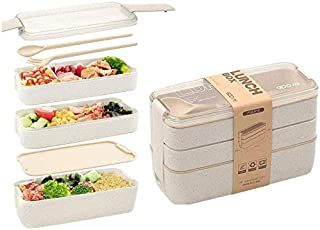 Deal Noon Bento Lunchbox (rectangle) for Adult & Kids - Asian Food Container - Perfect for Healthy Lunches in School - Lea...