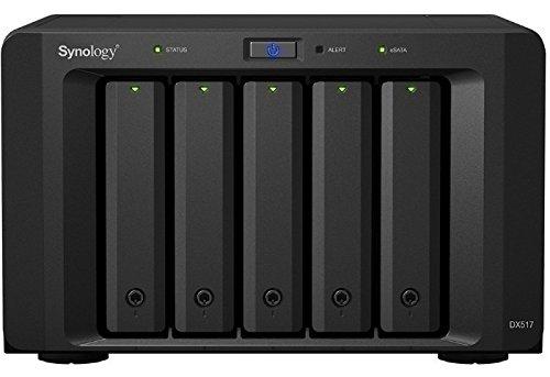 DX517, Expansie-eenheid, 5-Bay, zonder HDD, Hotswap, eSATA, voor Synology NAS