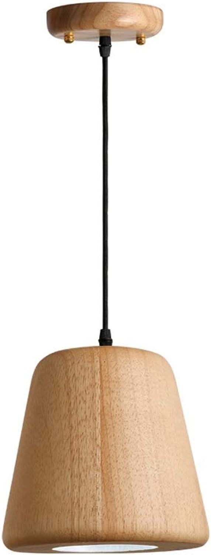 Holzpendelleuchte LED Einzelkopf Kronleuchter Holzkunst Restaurant Bar Dekoration Hngelampen Persnlichkeit Lager Weinkeller Deckenpendelleuchte 14  13 cm (Farbe   Warm-light)