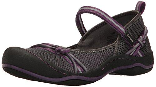 Price comparison product image JSport by Jambu Women's Misty Encore Walking Shoe,  Charcoal / Plum,  8 M US