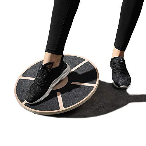 AoYan Holz Fitness Wobble Balance Board - 40cm rutschfeste Runde Self Fitness Trainer Körper Übung Gym Sport, körperliche Bewegung Rehabilitation Yoga Pilates Physiotherapie