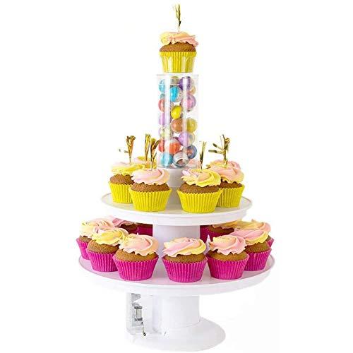 Surprise Rack - Muziek Pop Cake Stand, Cake Stand Verrassing Pop-Up, Pop-Up Verrassing 2 in 1 Happy Birthday Cake Stand Taart Staan, Geschikt Voor Liefhebbers,White