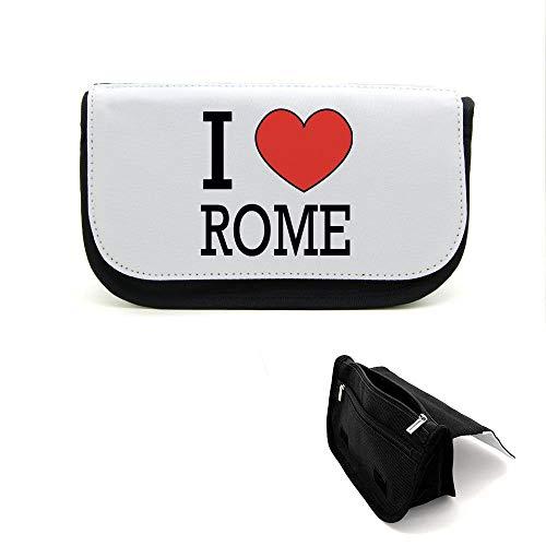 Mygoodprice Trousse de beauté étui maquillage i love rome Noir